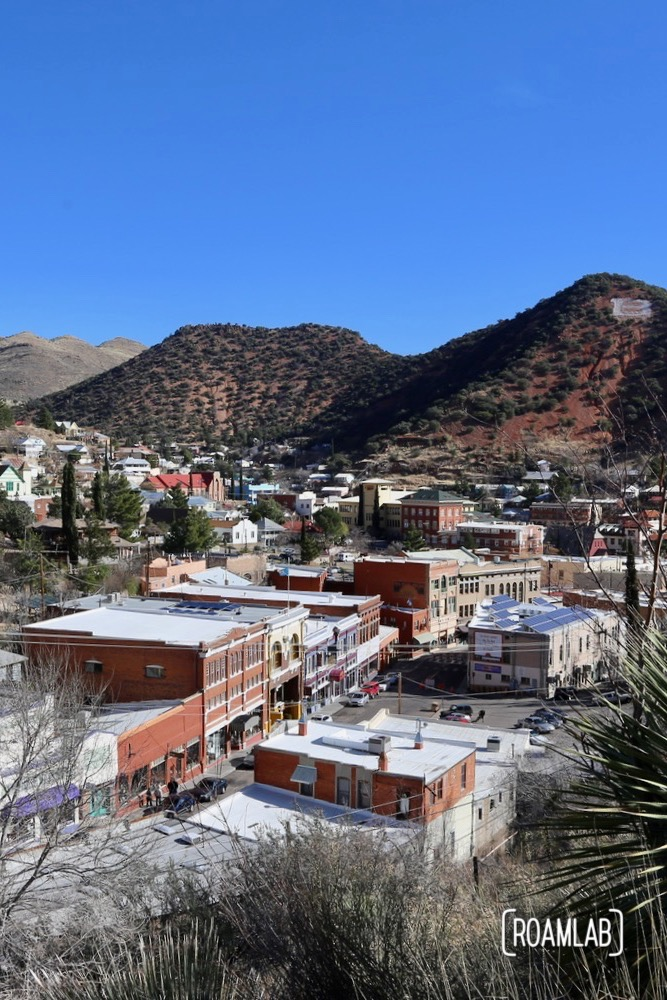 Overlooking Bisbee, Arizona.