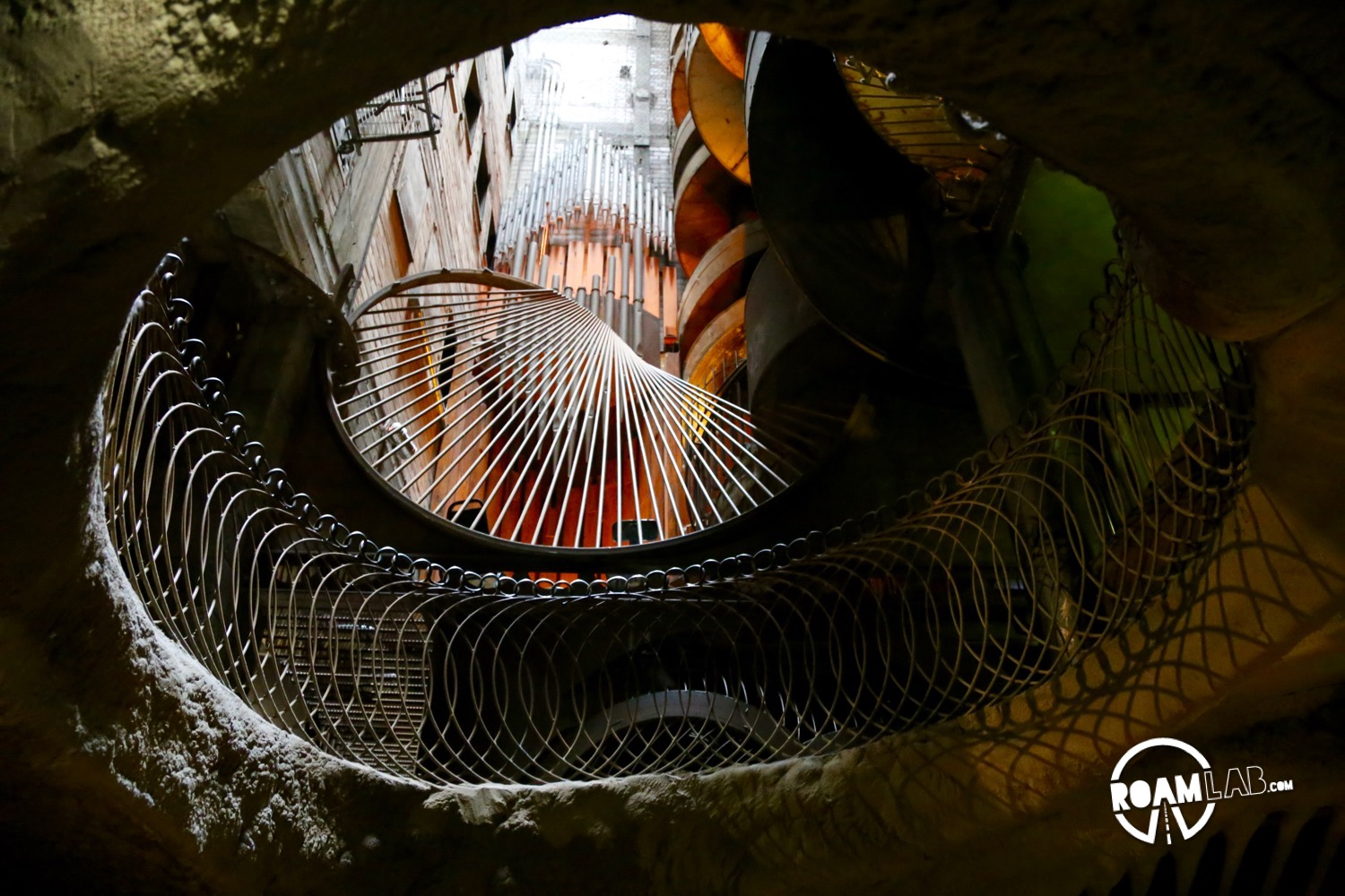Crawling through the winding passages of the museum can be a truly surreal experience—particularly when traveling through spiraling wire mesh, unsure where, or even if, you will get out.