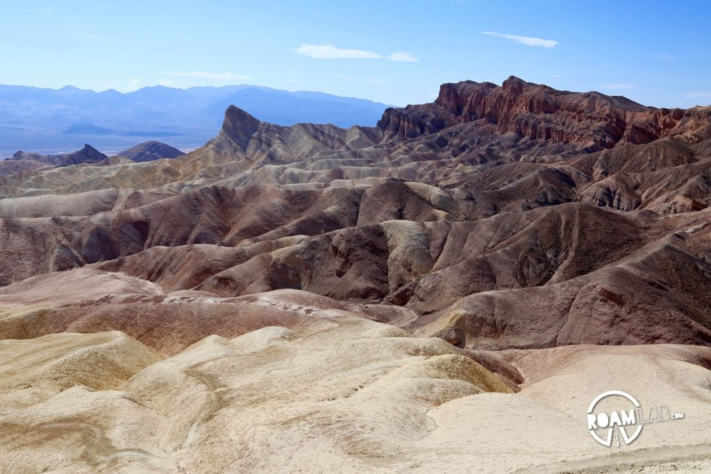 View of waves of rock from Zabriskie Point.