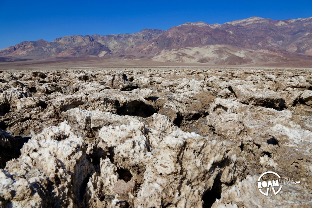 Salted, pitted earth at the Devil's Gold Course