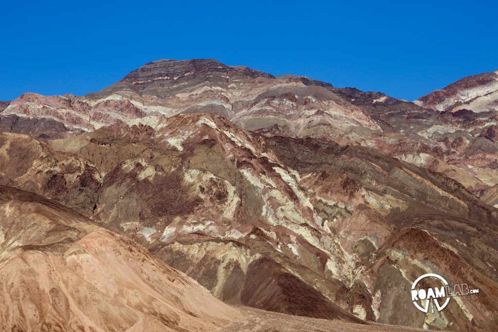The painted mountain sides along Artist Drive