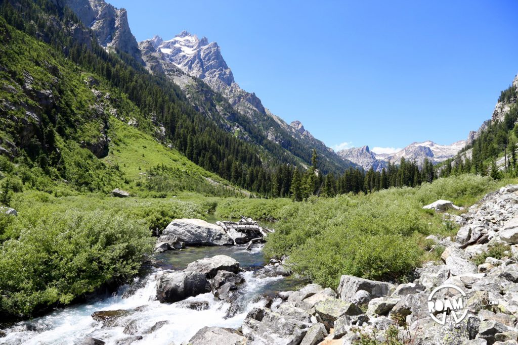 Creek burbling through cascade canyon.