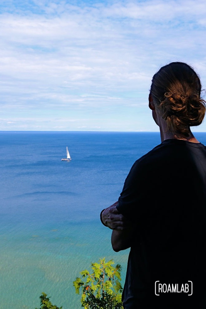 Vast, panoramic views of Lake Huron from Tranquil Bluff Trail