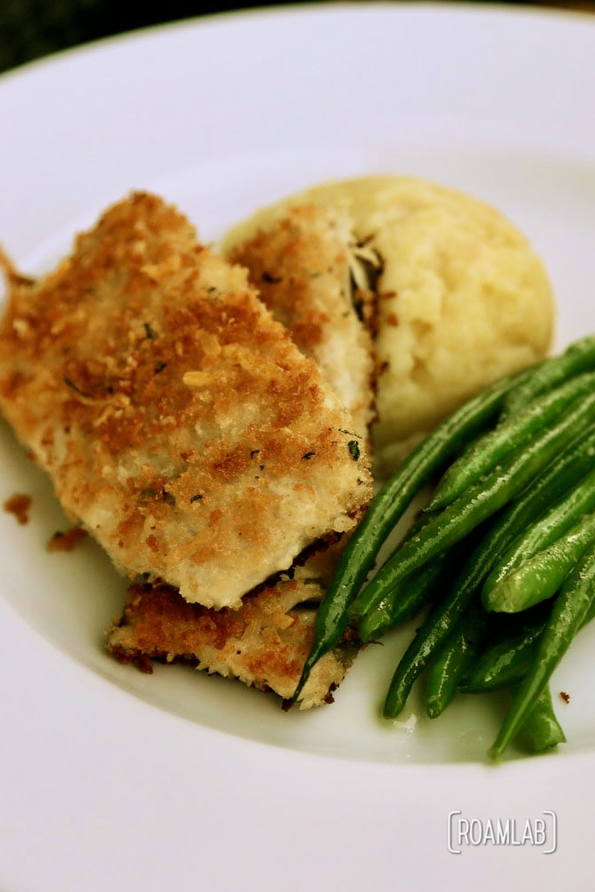 Almond crusted whitefish at Draught House and Mary's Bistro