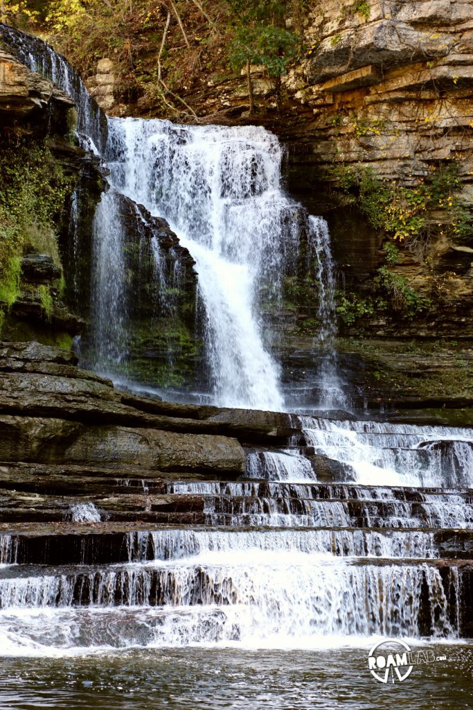 Cummins Falls State Park is located halfway between Nashville and Knoxville, Tennessee.  That makes it the ideal getaway for both cities in wanting a some a hike, a waterfall,  and an amazing water hole all in one place.