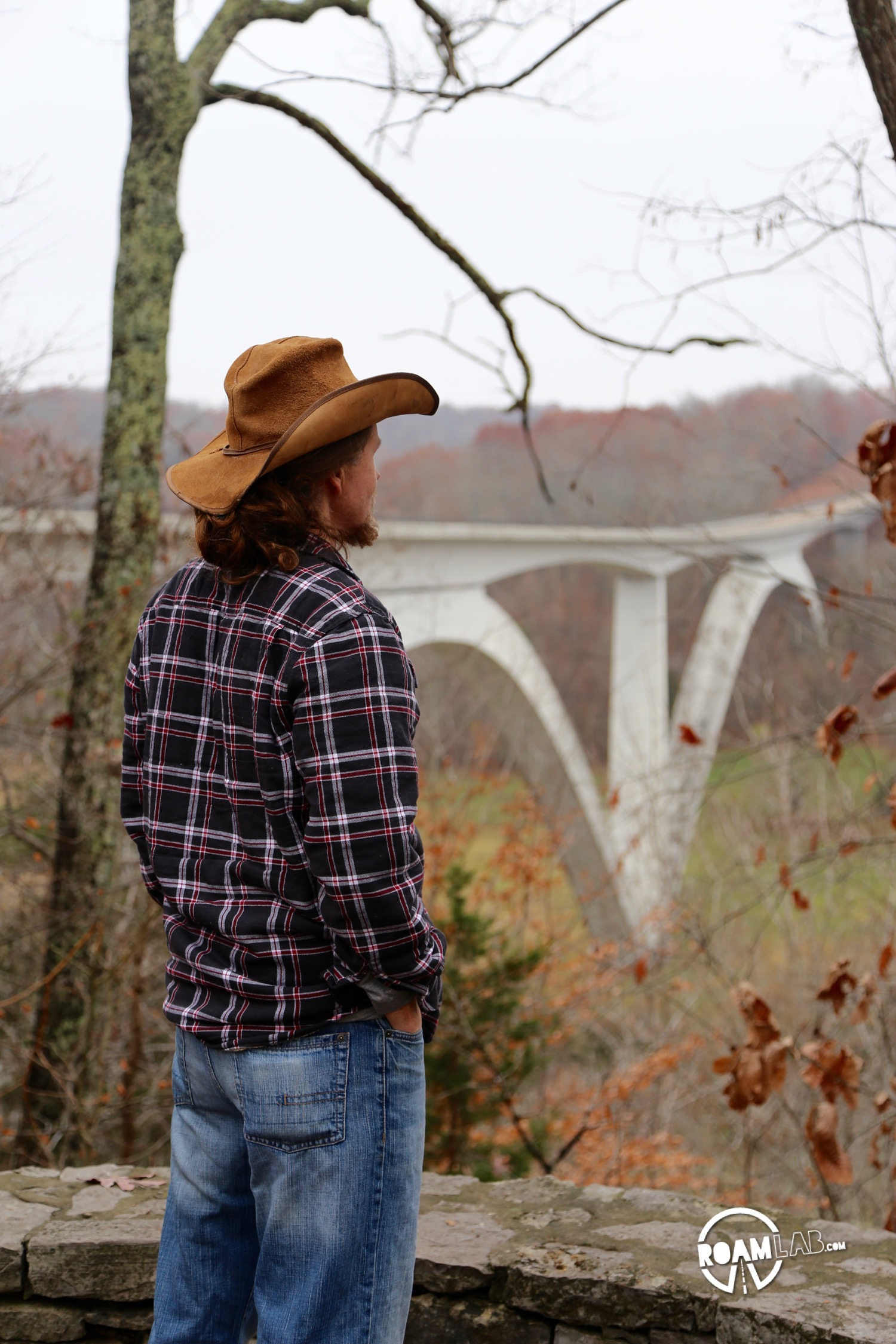 Overlooking the Double Arch Bridge along the Natchez Trace Parkway.