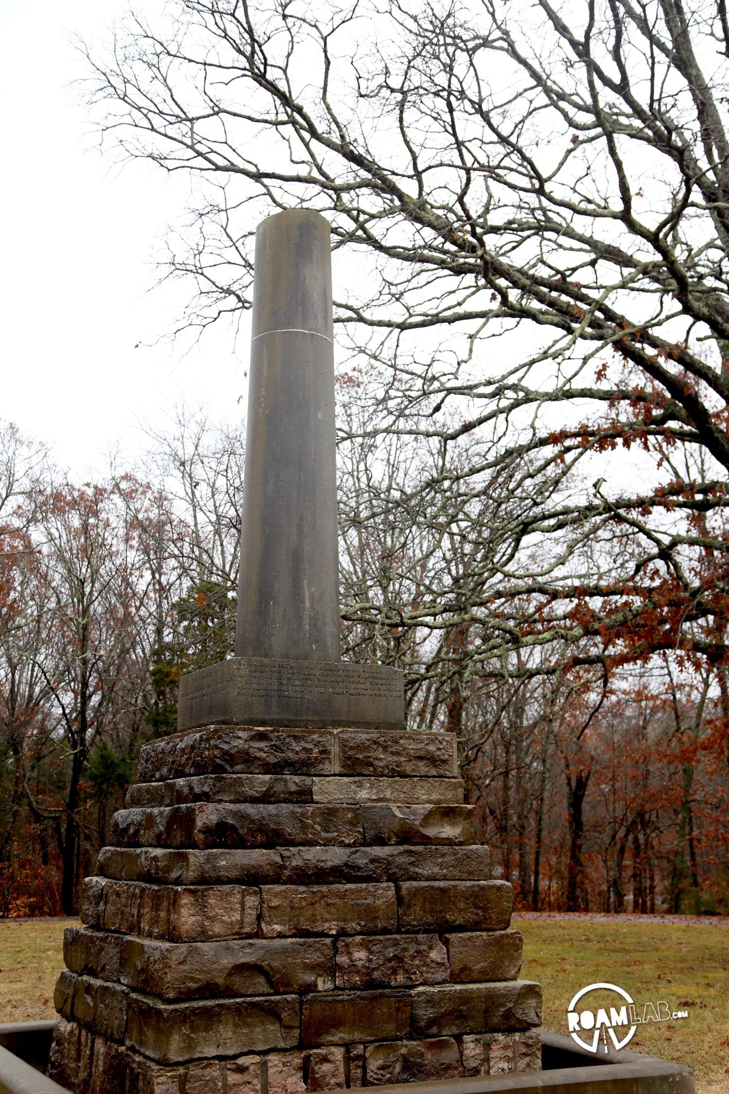 The Meriwether Lewis Monument commemorates the life of the celebrated adventurer and marks the location at Grinder's Mill along the Natchez Trace, where he met his untimely end.