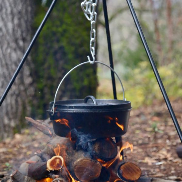 In this year's holiday haul, I got a dutch oven and cooking tripod. Obviously, it meant we had some cooking to do.
