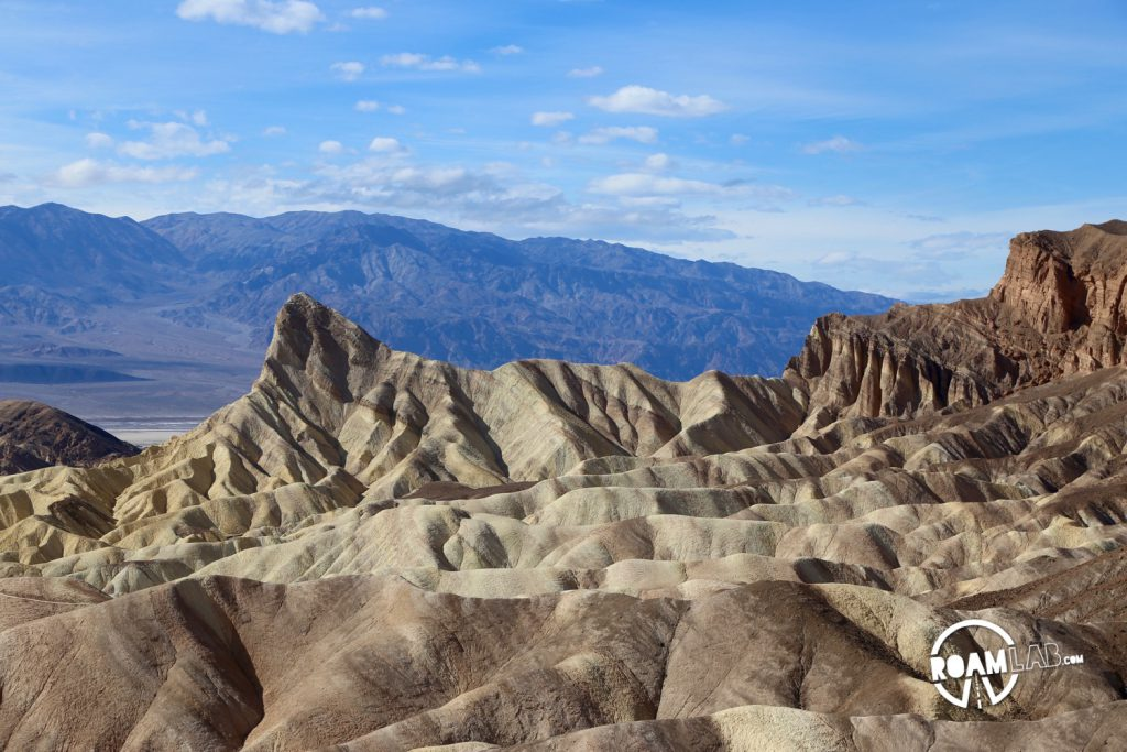 We take a peak at Zabriskie Point on our way out of Death Valley.