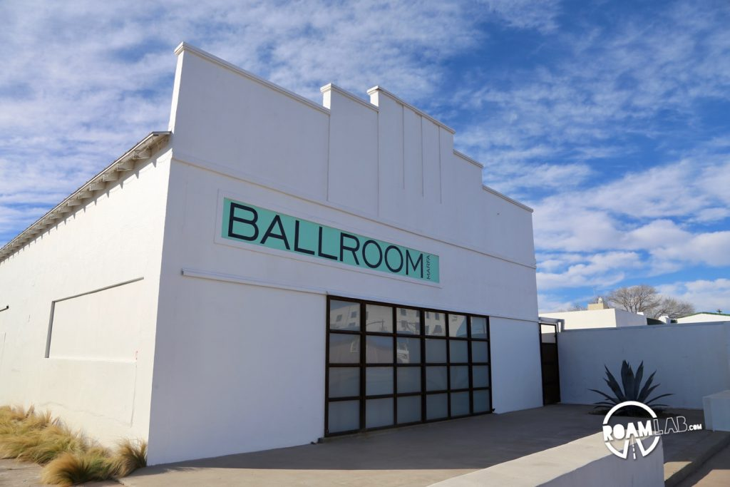 Ballroom Marfa is a contemporary art space in the heart of Marfa, Texas. Like all good things Marfa, it is a converted building. Before hosting films, music, and performing arts events and a gallery, the structure was a dance hall dating back to 1927.