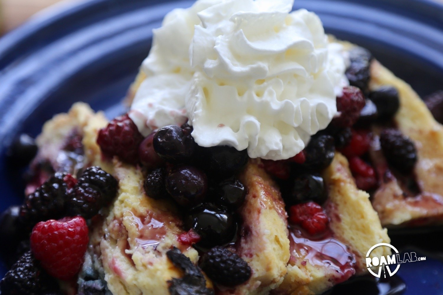 For mornings when we have time and a sweet tooth, we make some delicious Camper's Berry French Toast Loaf