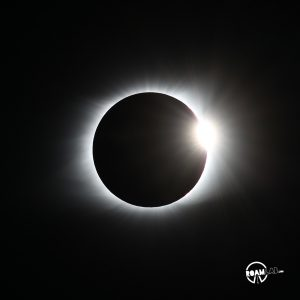 Diamond Ring 2017 Great American Eclipse at Cross Plains, Tennessee