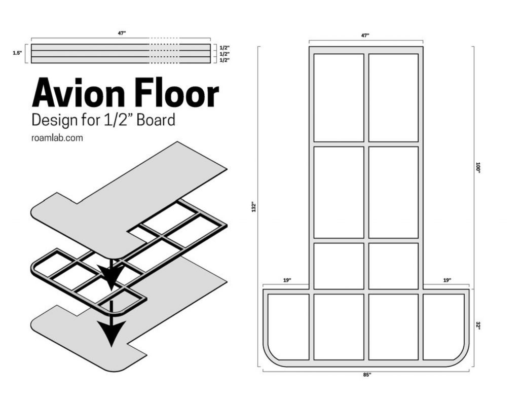 """Design for and Avion Floor with a 1/2"""" board"""