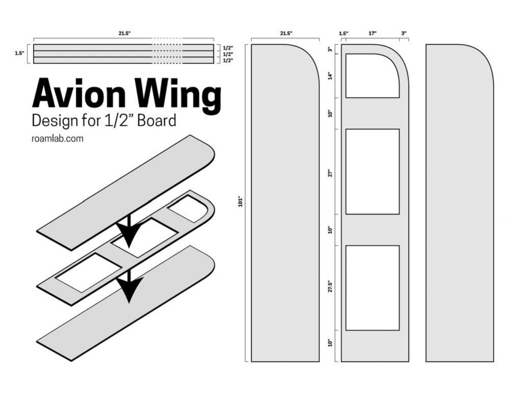 """Design for and Avion Wing with a 1/2"""" board"""