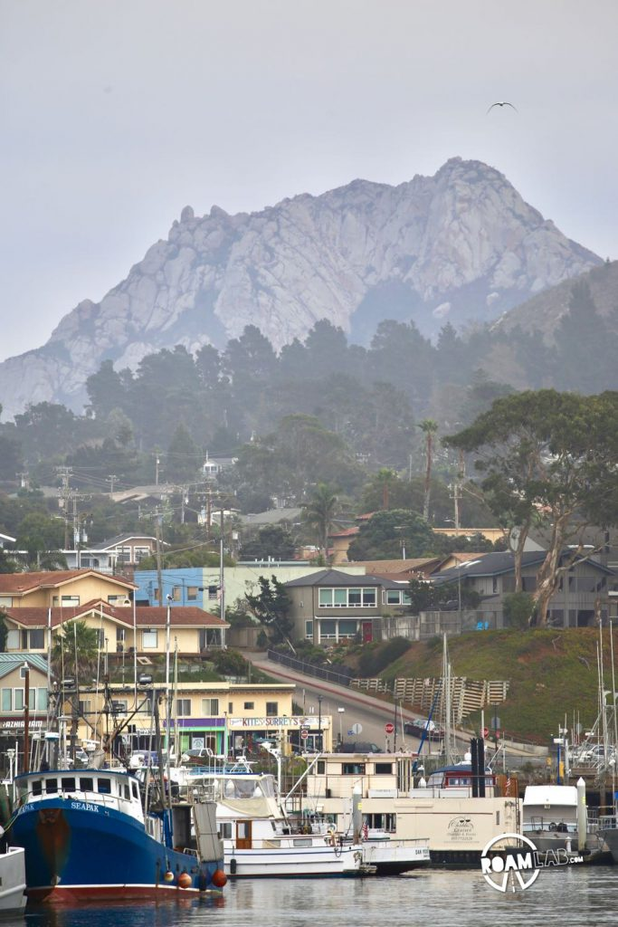 A view of Morro Bay from Morro Rock.