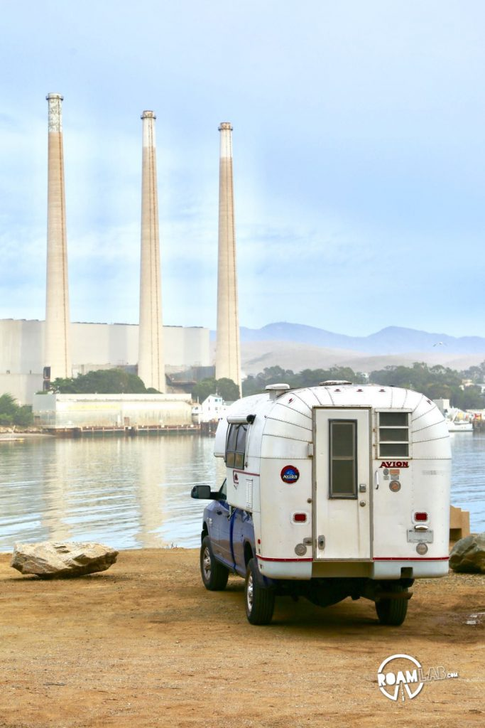 Looking at the Morro Bay Power Plant in our Avion Ultra truck camper.