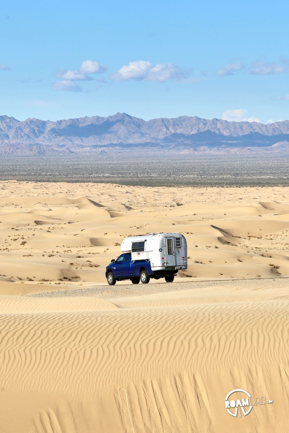 Driving across the Algodones Dunes in the Imperial Sand Dunes Recreation Area