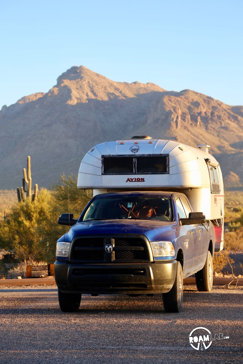 Our Avion Ultra C11 truck camper at Picacho Peak State Park, Arizona
