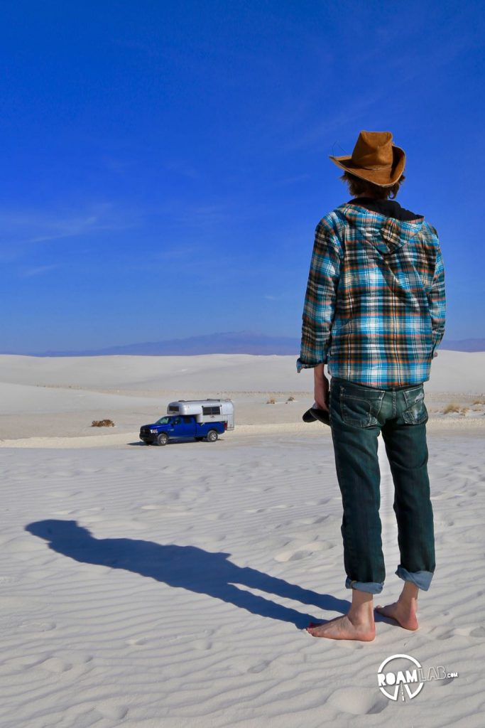 Never too far from home in the White Sands National Monument