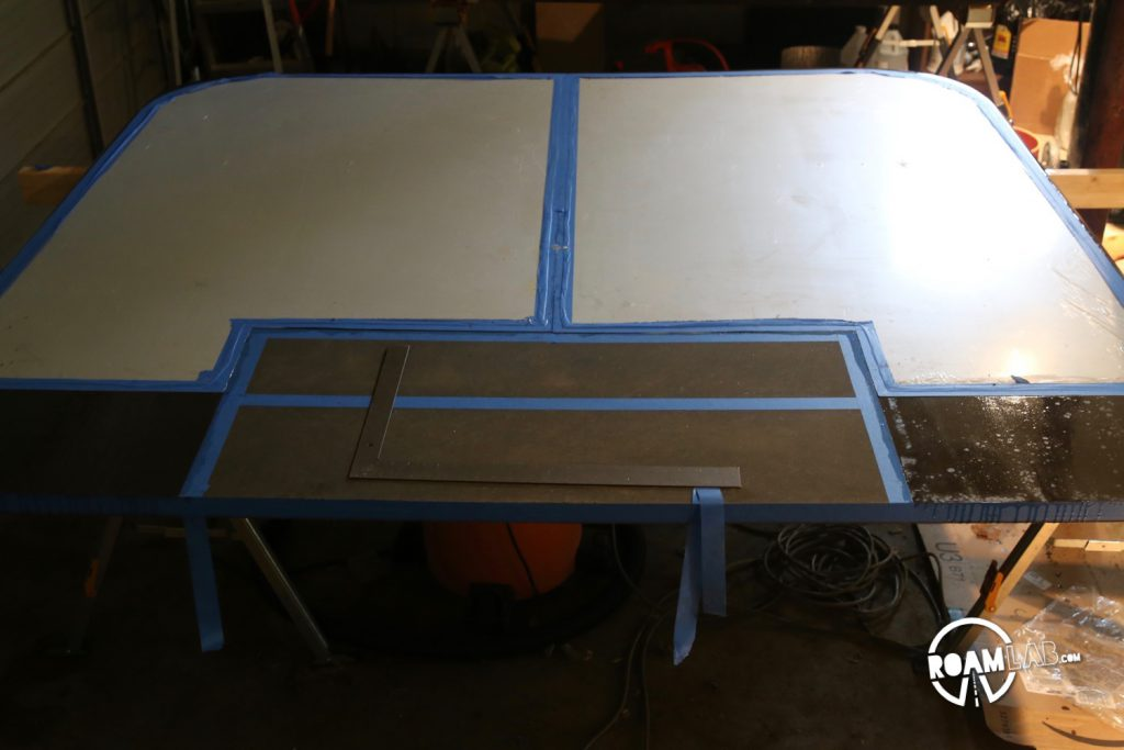 Aluminum epoxied in place on the cabover base.