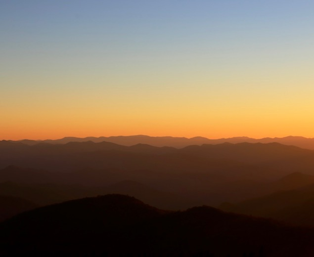 Sunset Over the Great Smoky Mountains National Park
