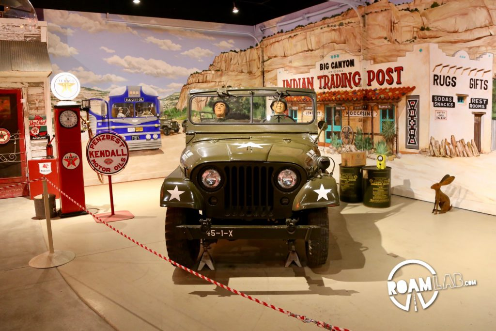 The National Route 66 Museum in Elk City, Oklahoma is one of many museums commemorating this historic road. It stands out in the quality of many of the displays but also the scope of it's displays. Not only does the museum cover classic cars, tourist traps, and drive-in culture but it has additional displays covering the cultural and industrial history of Oklahoma.