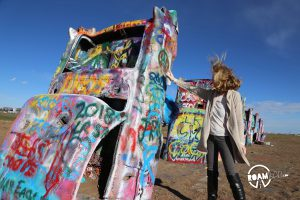 It's a road tripper's dream: yards away from historic Route 66 is the quirky art installation of Cadillac Ranch.
