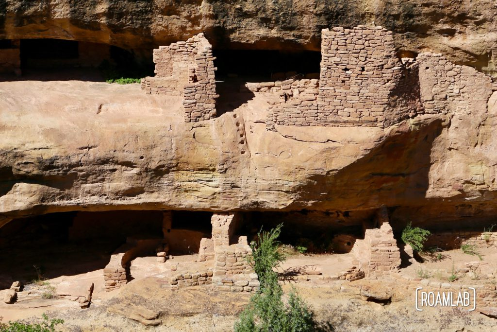 New Fire House footholds carved into the cliff face in Mesa Verde National Park