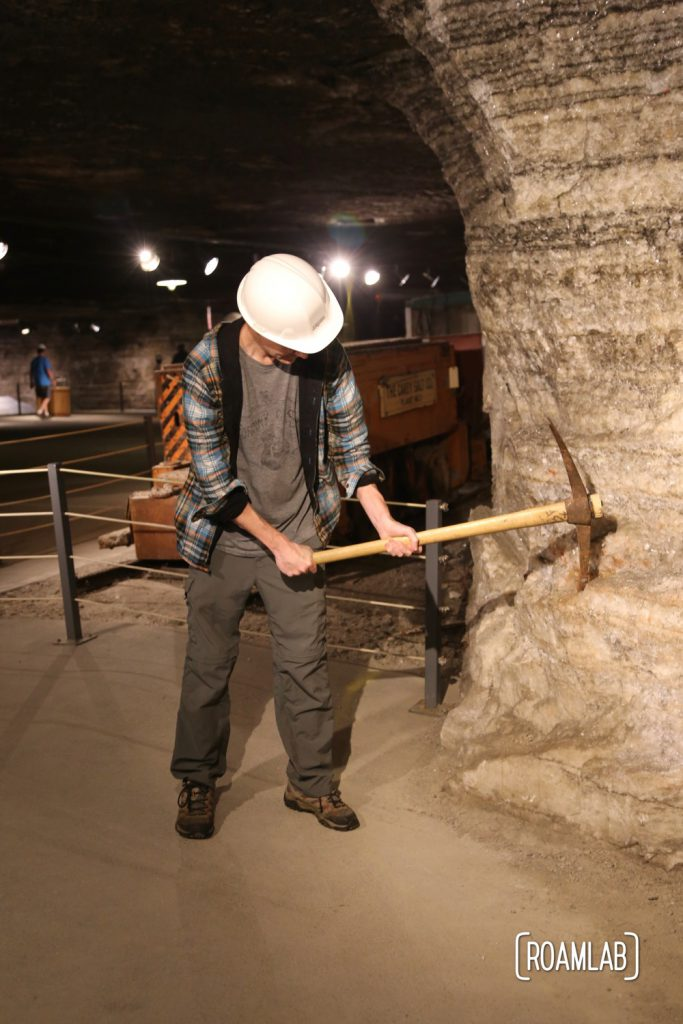 Chris taking his own swing at the salt mining business.