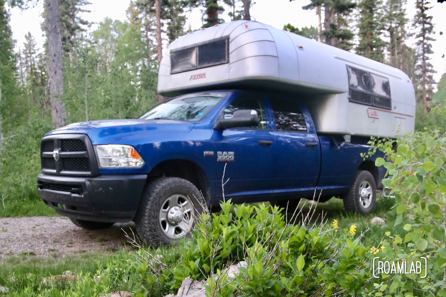 Truck camper at the Iron Spring Campground