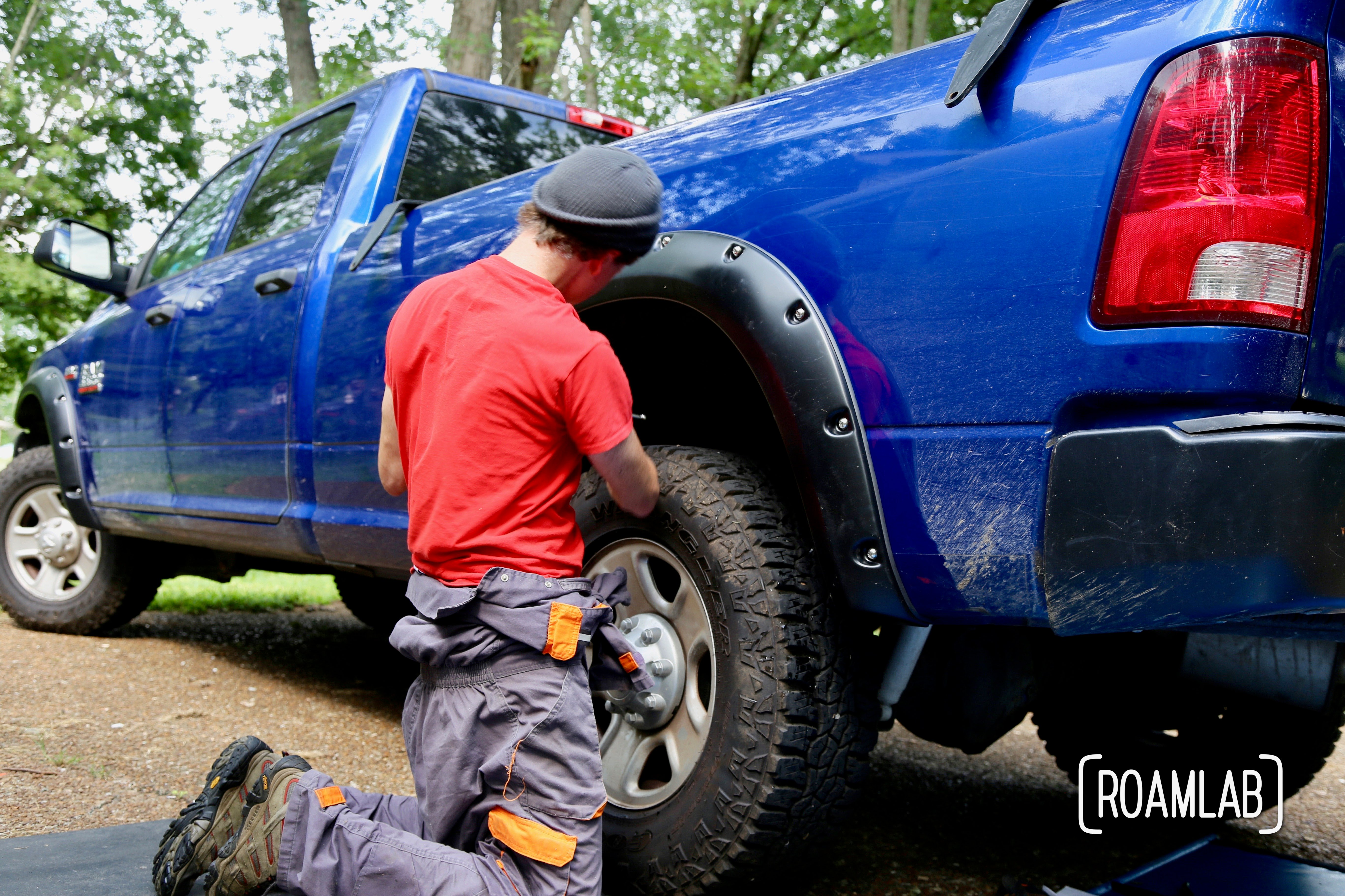 "Upgrading our overland rig with ""do it yourself"" installation of Bushwacker Fender Flares on a 2015 Ram 3500."