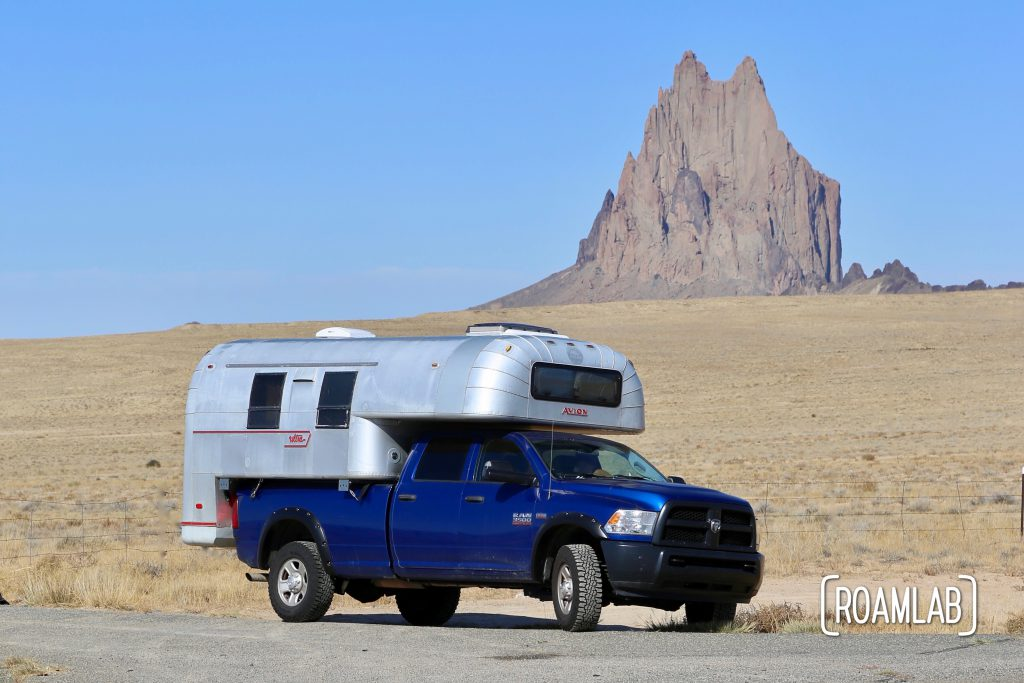 Showing off our updated Avion and truck at Shiprock.
