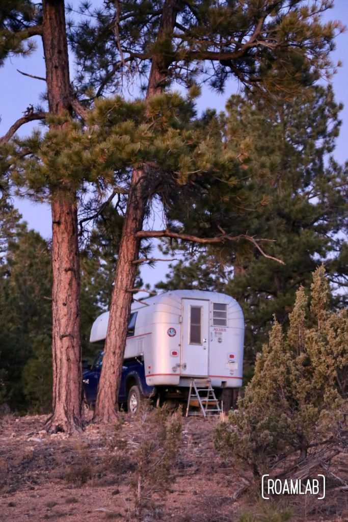 Bryce Canyon National Park has a campground, but for boondockers like us, we were delighted to find campsites off a forest road in Dixie National Forest.