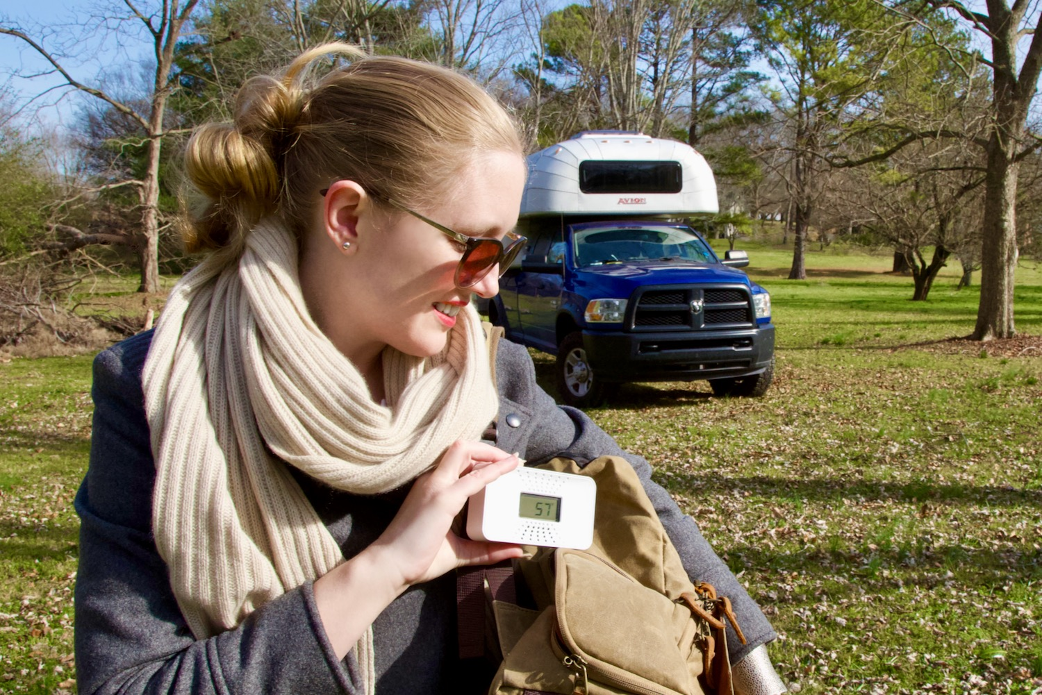 The compact size of First Alert's portable tabletop CO alarm is easy to take anywhere.