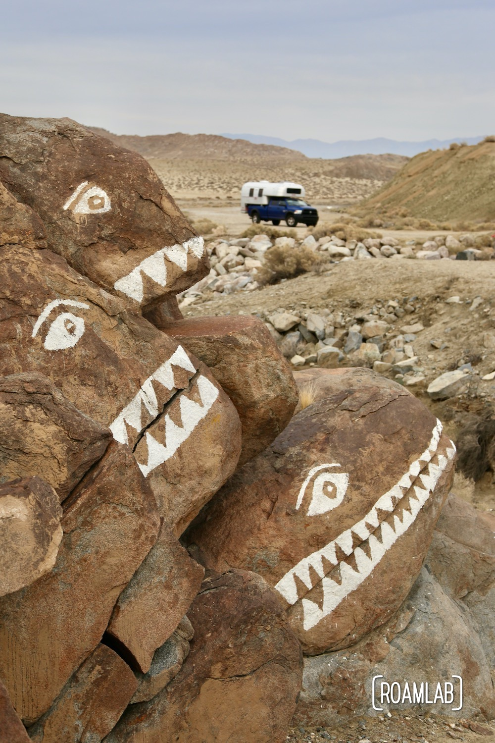 Graffiti or art in the California Desert