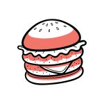 burger cooking food recipe icon