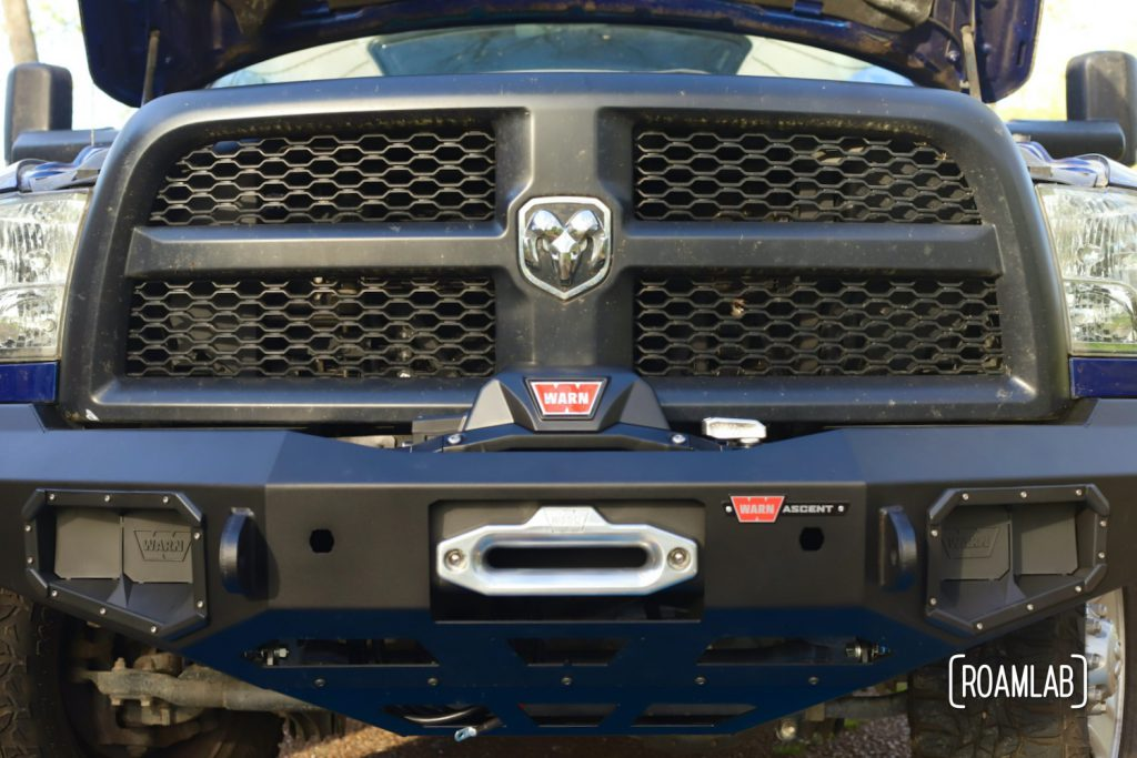 We complete our latest 2015 Ram 3500 mod by installing a Warn Zeon 12-S Winch on our new Ascent Front Bumper.  Our latest adventure as auto mechanics.