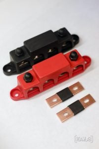 Bus bars (busbars) are short strips of conductive metal for high current electric connections. Learn how to build DIY bars for lithium battery cells.