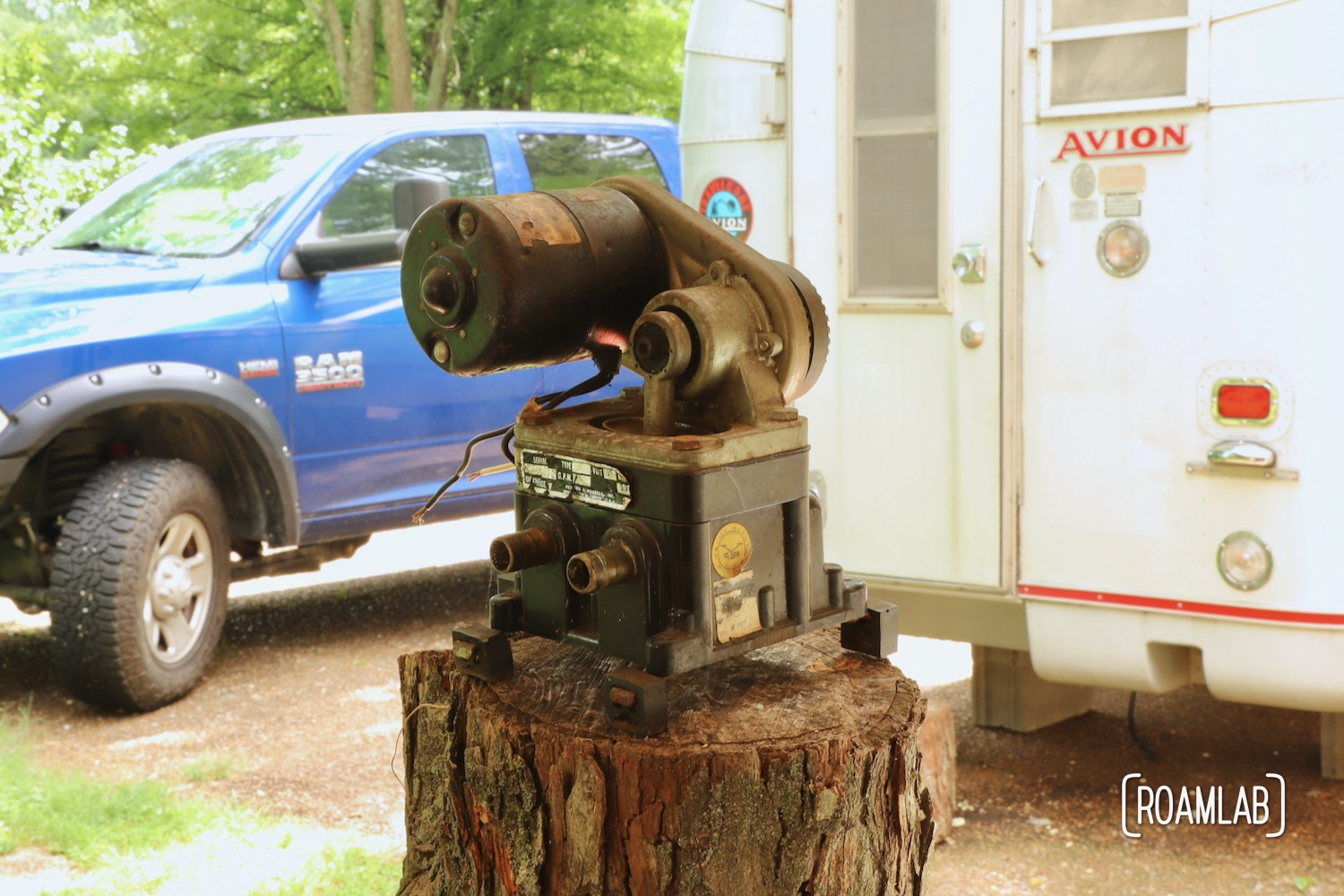Our vintage 1970 Avion truck camper has its original Peters & Russell water pump. While we will be upgrading the water system, we test the pump for fun.