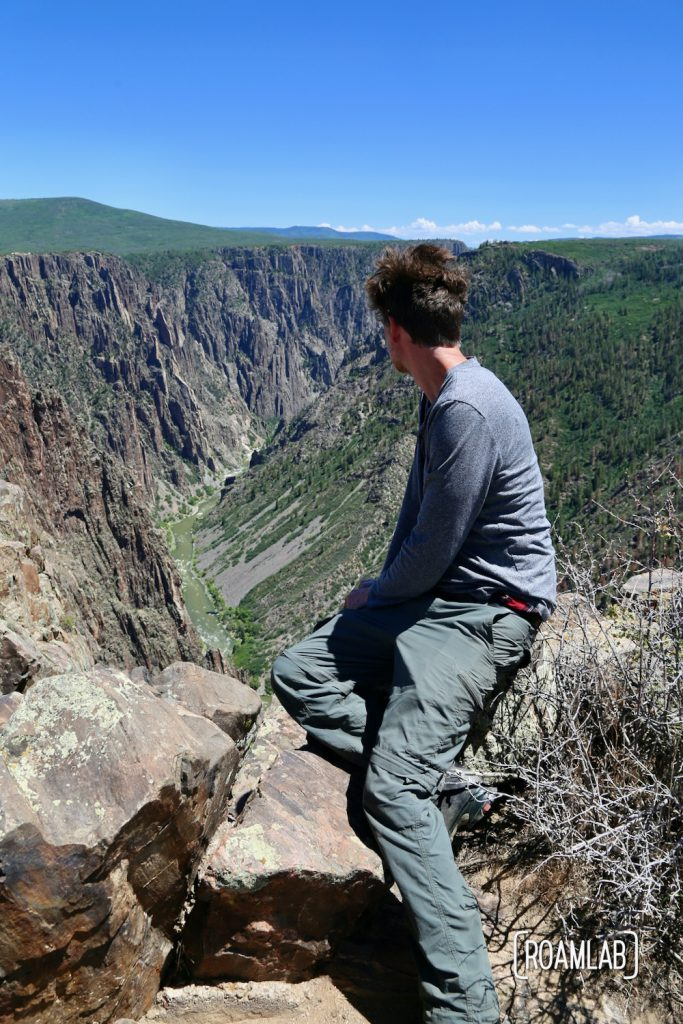 Chris looking down into the Black Canyon of the Gunnison National Park in Colorado