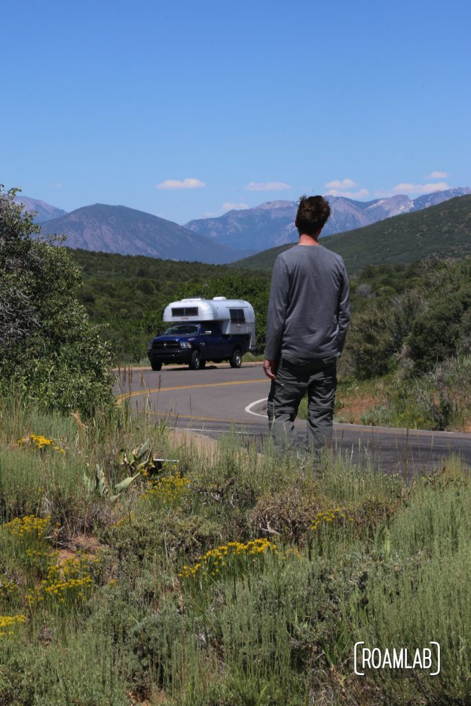 Chris, heading back to the truck camper in Black Canyon of the Gunnison National Park in Colorado