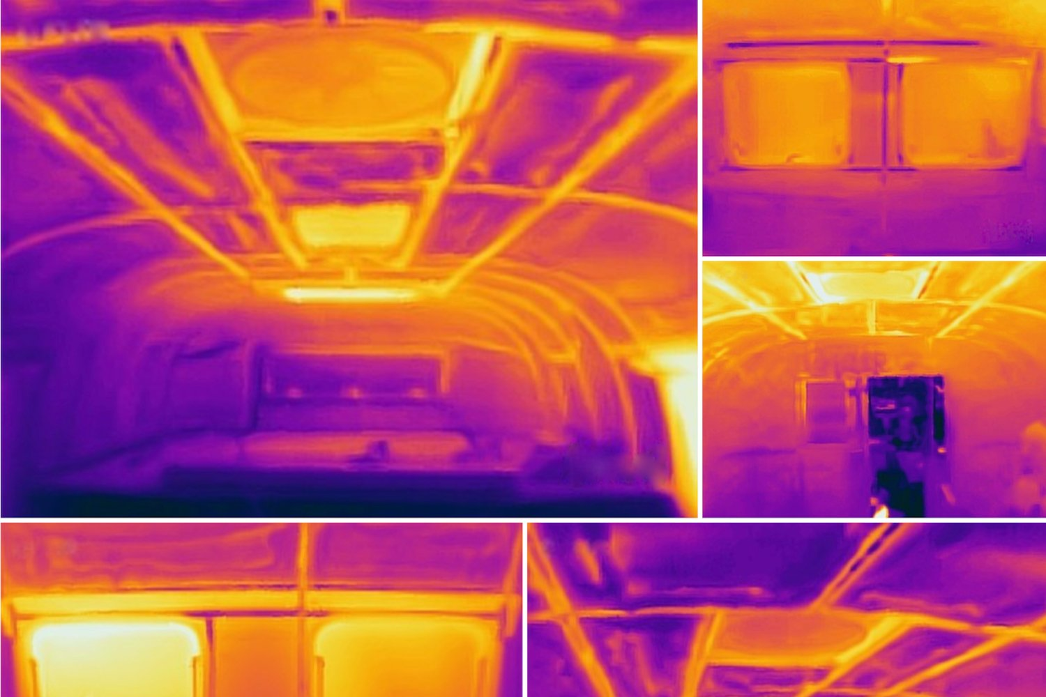 thermal images of camper interior