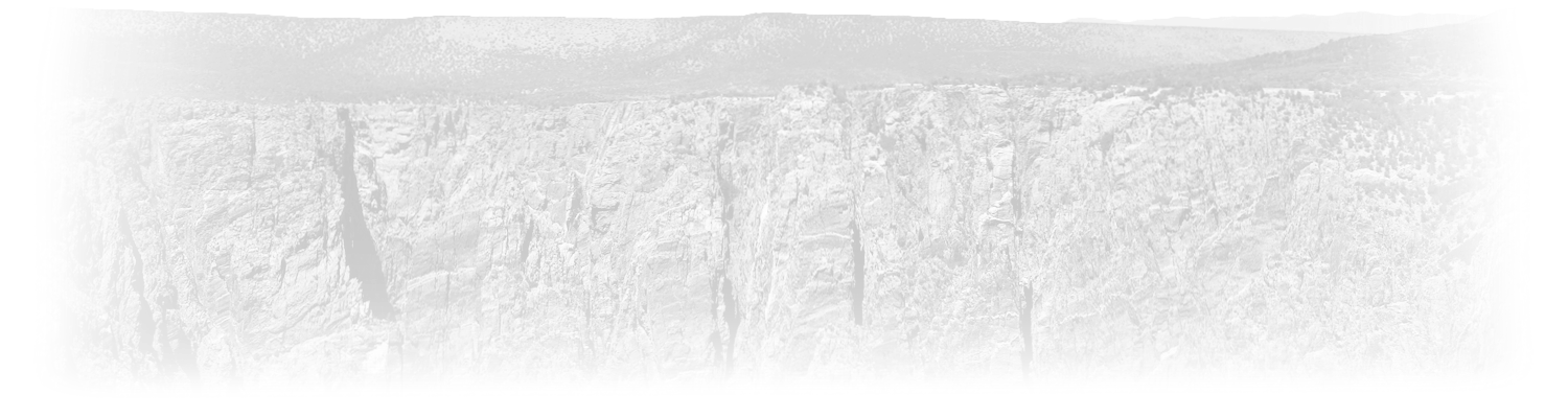 Black Canyon of the Gunnison title background