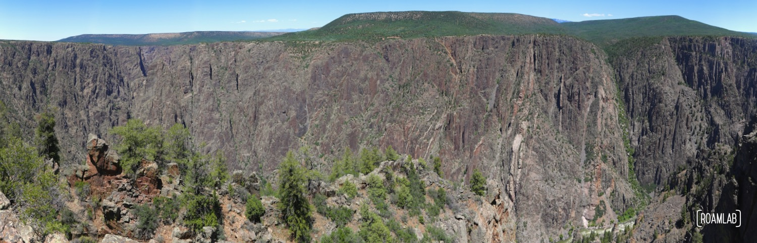 Black Canyon of the Gunnison panorama view