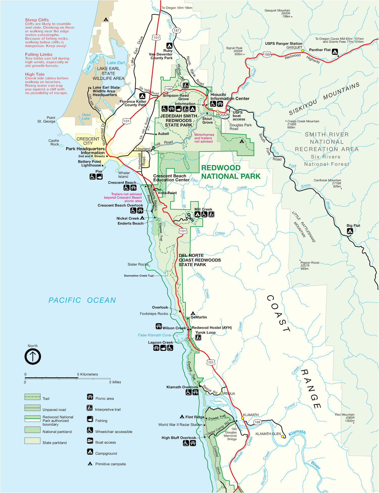 Redwood National Park (North) Map