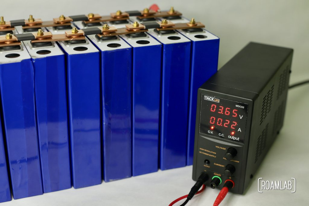 Reaching the end of top balancing battery cells.