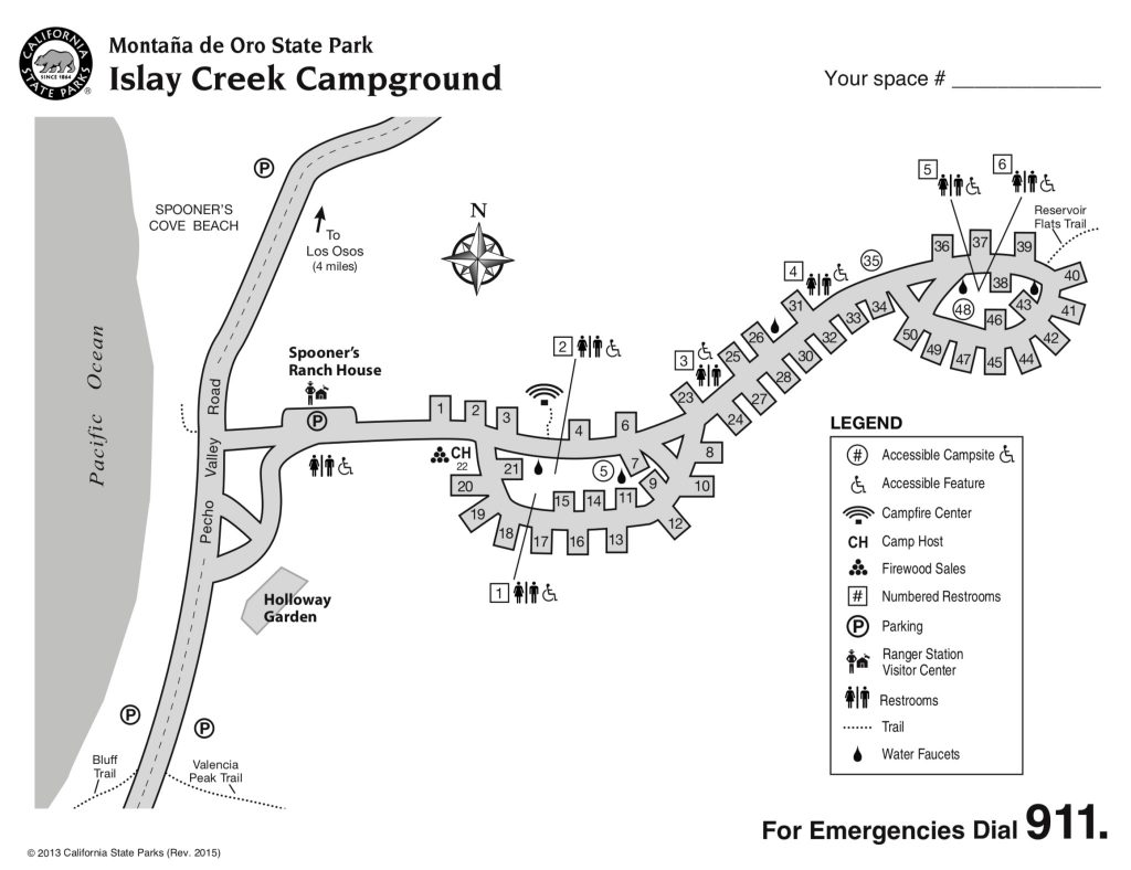 Map of Islay Creek Campground