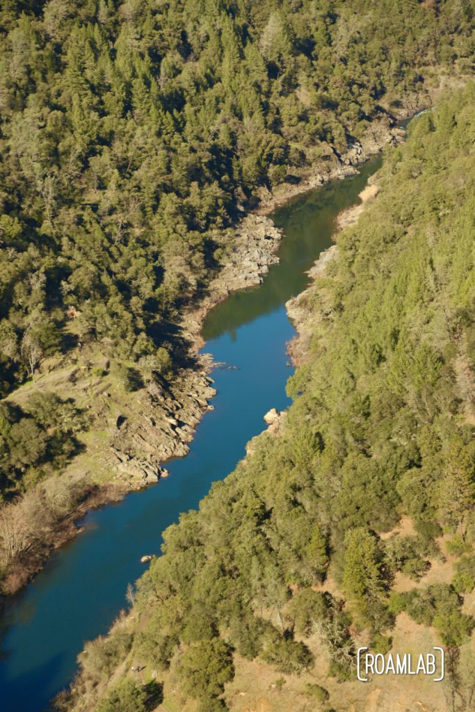 Aerial view of the North Fork of the American River