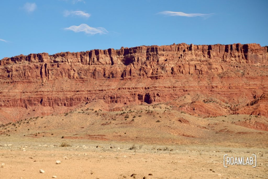 The red cliffs of the Vermillion Hills.