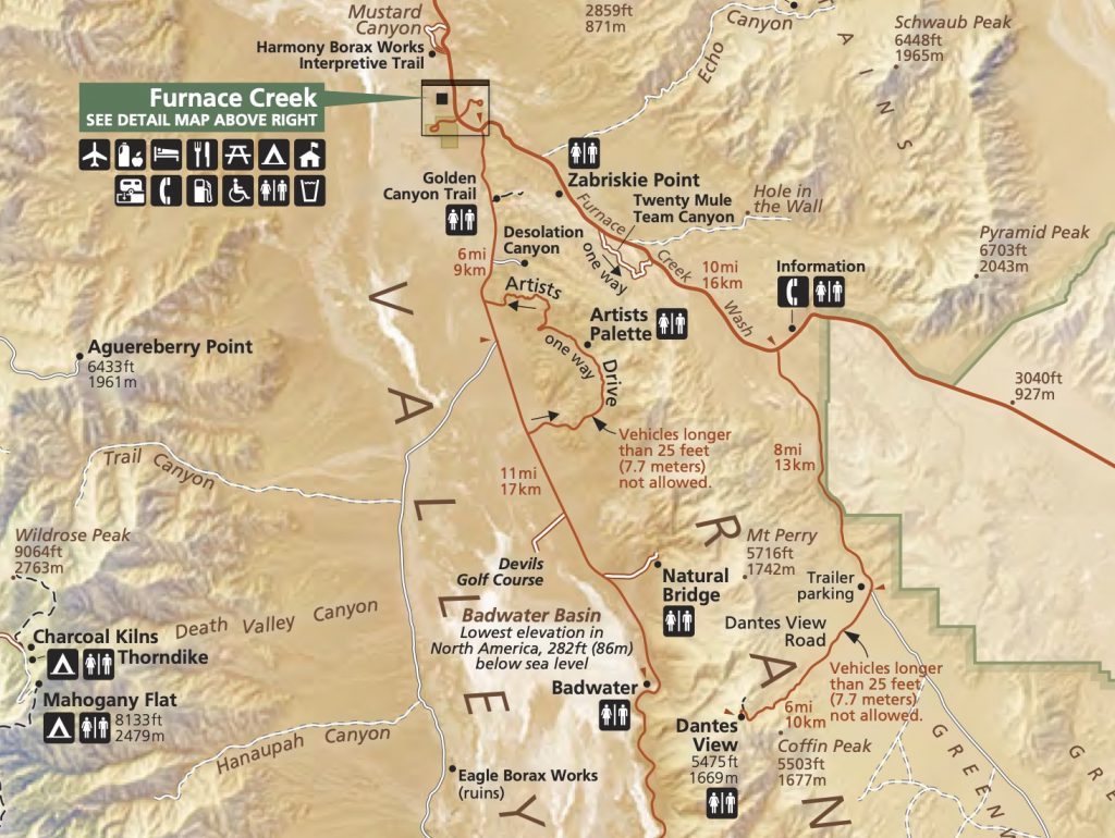 Artists Drive Scenic Loop Map